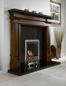 Flavel Windsor Traditional Silver gas fire